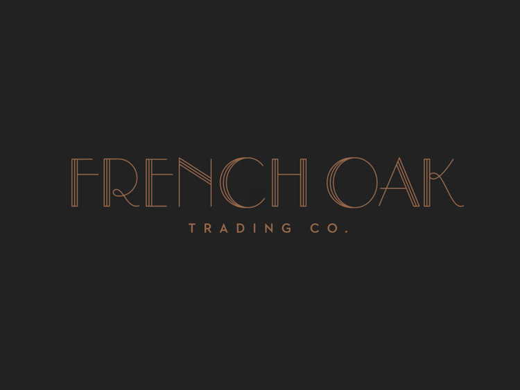 French oak trading co luke lucas typographer graphic designer previous next image 3 of 3 an art deco inspired typographic id and business cards colourmoves