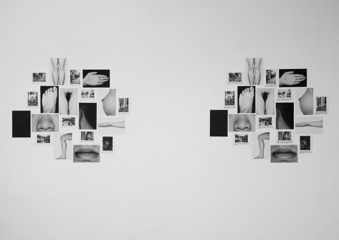 enjue ZHANG, My body, Photo Installation, 260×70 cm, France 2009